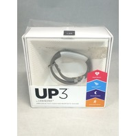UP3 by Jawbone Heart Rate, Activity plus Sleep Tracker, Silver Cross (Gray)