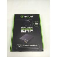 Re-fuel digital camera rechargable battery NB-6L