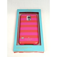 Kate Spade New York - Candy Stripe Hard Shell Case Samsung Galaxy S5 - Red/pink