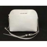 Michael Kors Cindy Leather Large Dome Crossbody Dove