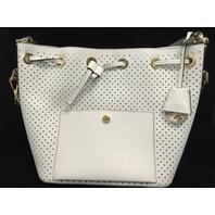 Genuine MICHAEL Michael Kors Greenwich Medium Bucket Bag (Optic White)