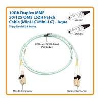 Tripp Lite 10Gb 50/125 OM3 LSZH Fiber Patch Cable (Mini-LC / Mini-LC) - Aqua 10M