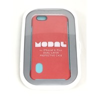 Modal - Hard Shell Case for Apple iPhone 6 Plus - Red/Blue