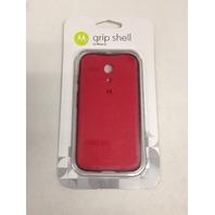 Motorola Grip Shell for Moto G - Red plus Red TPU