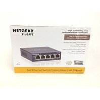 Netgear Prosafe 5-Port Fast Ethernet Desktop Switch (FS105)