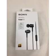 SONY h.ear in earphone with Remote control Microphone charc black MDR-EX750AP/B