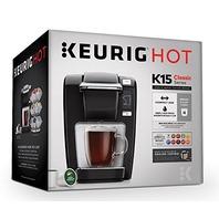 Keurig K15 Single Serve Compact K-Cup Pod Coffee Maker, Black
