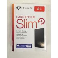 Seagate Backup Plus Slim 2TB Portable External Hard Drive USB 3.0 (STDR2000100)