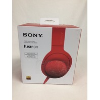 Sony h.ear on Premium Hi-Res Stereo Headphones (wired), Cinnabar Red