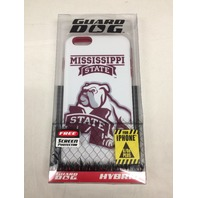 NCAA Mississippi State Bulldogs Hybrid Case for iPhone 6 PLUS, White, One Size