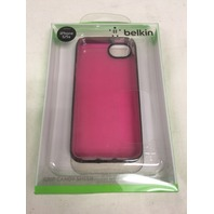 Belkin Grip Candy Sheer Case / Cover For Apple iPhone 5 5s SE (Pink / Black)
