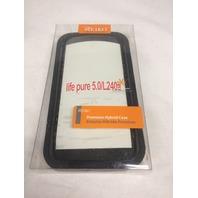 Reiko Silicon Case, Protective Cover for Blu life one L120 w/kickstand - Black