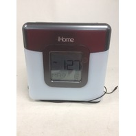iHome Bluetooth Color Changing Dual Alarm Clock FM Radio with USB Charging
