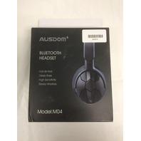 Ausdom M04 Bluetooth 4.0 Stereo Over-ear Headphone, Mic Hands-free Calling Black