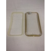 ULAK Crystal Clear Cover, Flexible Bumper for Apple iPhone 6/6S 4.7 inch, Gold