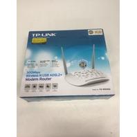 TP-LINK Wireless N300 ADSL Modem Router, 2.4Ghz, Splitter, Detachable Antennas