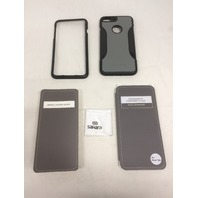 iPhone 7 PLUS Case, (Black Gray) SaharaCase Protective Kit Bundle, Black/Gray