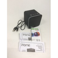 iHome Portable Bluetooth Speaker w/Speakerphone, Rechargeable Battery, Blk/Gray