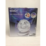 SOAIY Soothing Aurora LED Night Light Star Projector with Speaker & Remote Black