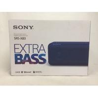 Sony SRS-XB3, BLUE Portable Wireless Speaker with Bluetooth (Blue)