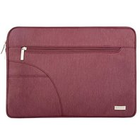 Mosiso Polyester Fabric Laptop Sleeve Carrying Case Cover Protective Bag Only for 12-Inch New Macbook with Retina Display, Wine Red