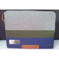"PKG Slouch Laptop Sleeve - Blue/Green/Gray - Macbook 13"" inch Waterproof Fabric"