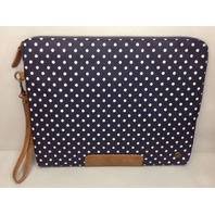 "PKG Slouch 13"" Nylon Laptop Sleeve (LS04-13-DOT) - Navy Polka Dot ."
