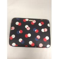 Kate Spade New York Tablet Notebook Sleeve Case - Black / Multi Color Dots