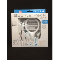 Wii Standard Sports Pack Accessories, 6-in-1, Wii Motion Plus Compatible