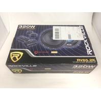 Rockville RV65.2K 6.5 in Component Kit Car Speakers 640 Watts/160 Watts RMS CEA