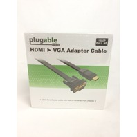 Plugable Active HDMI to VGA 6ft (1.8m) Converter Cable - up to 1920 x 1080 (60Hz
