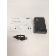 Belkin Travel Power Pack 9000 with 1 Amp and 2.5 Amp Dual USB Ports (Black)