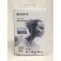 Sony MDR-XB50BS/L Wireless, In-Ear, Sports Headphone, Blue