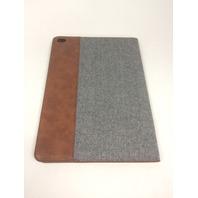 iPad Air 2 Stand Cover, SmartShell, Ultra Slim, Grey Herringbone/Brown