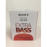 Sony SRS-XB10 Portable Wireless Speaker - Red