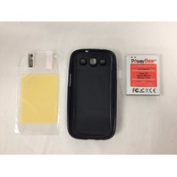 PowerBear Samsung Galaxy S3 Extended Battery [4500mAh] & Protective Case, Black