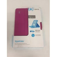 Speck Products StyleFolio Case and Stand for iPad mini 4, Fuchsia/Nickel Grey