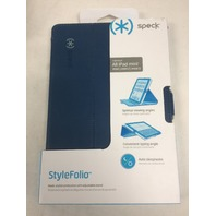 Speck Products StyleFolio Case for iPad Mini/2/3 - Deep Sea Blue/Nickel Grey