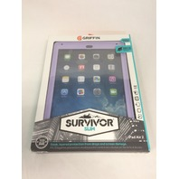 Purple/Lavender Survivor Slim Protective Case w/ Stand for for iPad Air 2