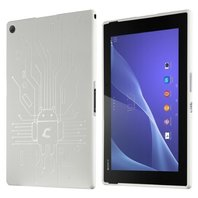 Cruzerlite Bugdroid Circuit Case Compatible for Sony Xperia Tablet Z2 - White