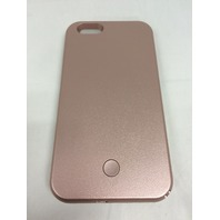 Selfie LED Light Case for iPhone 6 PLUS  with Rechargeable Backup, Rose Gold