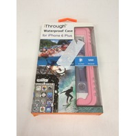 iThrough iPhone 6 PLUS Waterproof Case, Dust/Dirt/Snow/Shock Proof, Pink