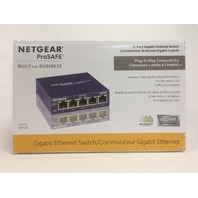 NETGEAR GS105 ProSafe 5-Port Gigabit Ethernet Desktop Switch - 10/100/1000 Mbps