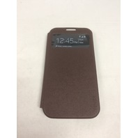 Fenice Piatto View Slim Folding Case, Samsung Galaxy S4, Dark Brown/Light Blue