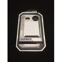 Incipio White Stashback Wallet Hard Case Credit Card Id Slot For Apple iPhone 5
