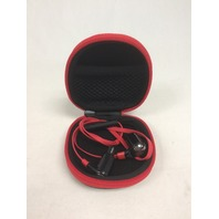 DinoTwin T2's Premium Sport Ear Bluetooth Earbuds, Black/Red