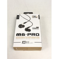 MEE audio M6 PRO Universal-Fit Noise-Isolating with Detachable Cables (Smoke)