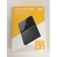 WD 2TB Black My Passport Portable External Hard Drive - USB 3.0