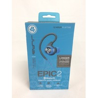 JLab Audio Epic2 Bluetooth 4.0 Wireless Sport Earbuds, waterproof - Blue
