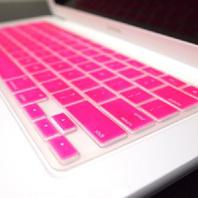 TOP CASE - Rubberized Hard Case for 13-Inch Macbook  pink